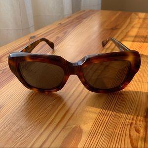 Celine Oversized Cocoon Tortoise Sunglasses